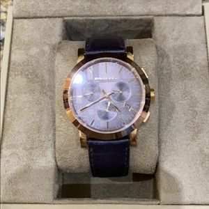 Authentic Burberry leather watch